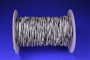 1 000 22 Awg Tinned Copper Hook up Wire Twisted Pair Black White Mil spec