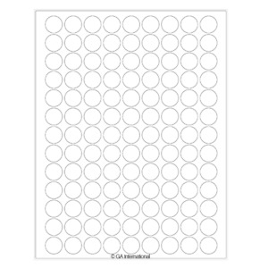 Removable Laser Paper Labels 0 75 Circle rlzp 51 White