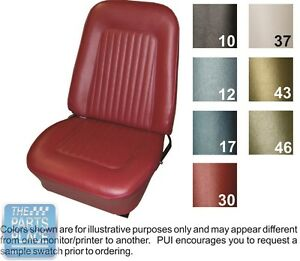 1968 Camaro Standard White Front Buckets Seat Covers Folddown Rear Pui
