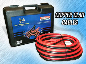 Heavy Duty 1 Gauge 25 Foot Booster jumper Battery Cables 800amp W Case