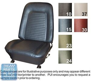 1969 Camaro Standard Black Front Buckets Seat Covers Pui