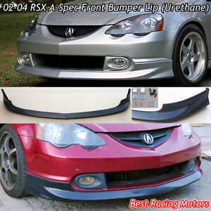 A Spec Style Front Bumper Lip Urethane Fits 02 04 Acura Rsx 2dr