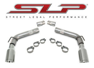 2010 2015 Camaro V6 Loud Mouth Axle Back Exhaust With 4 Tips Slp 31201