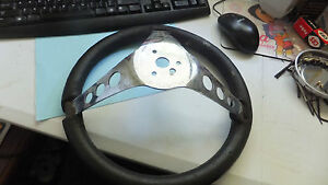 Vintage Superior The 500 Black Foam Steering Wheel Gasser Hot Rod Rat Rod