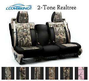 Coverking Custom Seat Covers Neosupreme Front Row 2 tone Realtree Camo