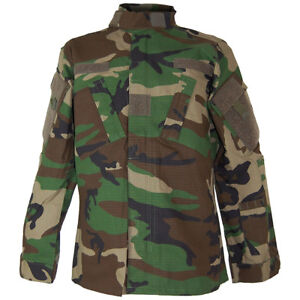 Tactical ACU Army Ripstop Shirt Military Mens Field Jacket Woodland Camo S XXL $72.95