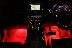4pc Red Led Under Dash Kit Interior Glow Rock Lights 4x4 For Jeep Wrangler