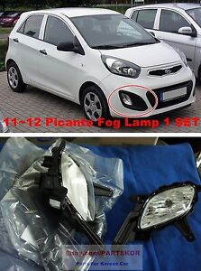 For 2011 2012 Kia Morning Picanto Fog Lamp Light Cover Wire 1set Genuine
