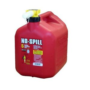 5 Gallon No Spill Gas Can Easy Pour User Friendly Button Activated