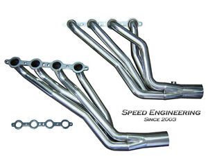 Speed Engineering Silverado Sierra Truck 1 7 8 Headers 99 06 4 8l 5 3l 6 0l