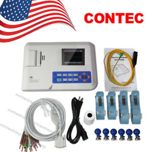 Us Ce Digital Ecg Ekg Machine Electrocardiograph Portable 1 channel 12 Leads Fda