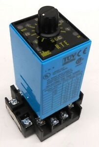 Idec Electronic Time Delay Relay Timer Rte p21 24vac dc 10amps