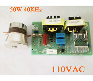 Ac 110v 50w 40khz Ultrasonic Cleaning Transducer Cleaner Power Driver Board