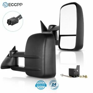 For 88 98 Chevy C K C10 1500 3500 Power Towing Camper Side Towing Mirrors Pair