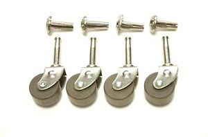 4 Lot Casters Furniture Casters Wood Caster Antique Style Casters 1 1 4 Dia
