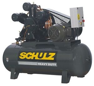 20 Hp 3 Phase 120 Gallon 175 Psi 80 Cfm Schulz Air Compressor