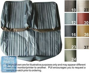 1969 Chevelle Dark Metallic Blue Front Bench Seat Covers Pui