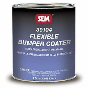Sem 39104 Flexible Bumper Coater Black 1 Quart Cladding Bumper Paint