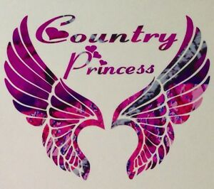 Pink Camo Wings Country Princess Truck Decal 5 Wild Love Girl Browning Muddy