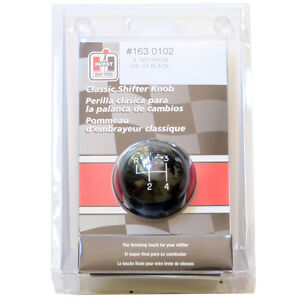 Hurst 1630102 4 Speed Black Classic Shifter Ball Knob 3 8 X 24 Fine Thread 0102