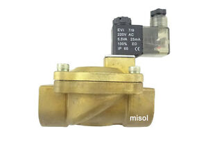 New 220v Electric Solenoid Valve G1 bsp Dn25 For Air Water Gas Diesel