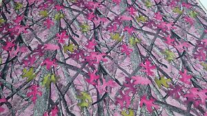 Auto Headliner Camo Fabric 72 Long True Timber Sassy B Pink 3 16 Foam Backing