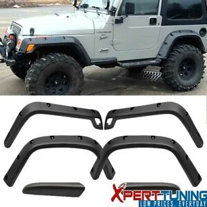 Fits 97 06 Jeep Wrangler Tj 7 Wide Pocket Rivet Fender Flares Kit 6pc Full Set