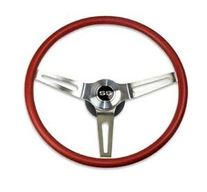 69 70 Camaro Chevelle Comfortgrip Steering Wheel Kit Red W ss Horn Cap No Tilt