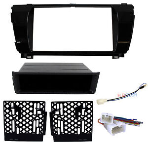 2 din Radio Replacement Dash Kit harness antenna For 2014 2016 Toyota Corolla