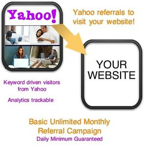 Website Visitors 30 Days 12 000 Yahoo Referrals visitors To Your Website