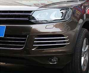 Mesh Grille Near Front Fog Light Cover Trim For Volkswagen Vw Touareg 2011 2014