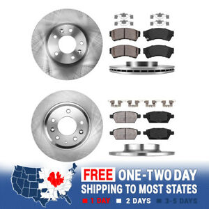 Front Rear Brake Rotors Ceramic Pads For Mazda 6 Ford Fusion Mkz Milan Zephyr