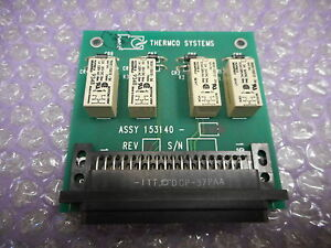 Thermco Systems 153140 002 Quad Relay Pcb Assly right Angle Compatible W htr V