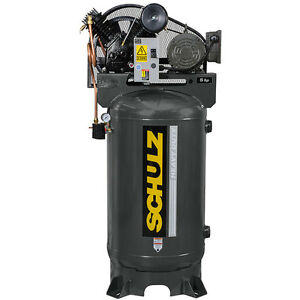 5 Hp Single Phase 80 Gallon 175 Psi 20 Cfm Schulz Air Compressor