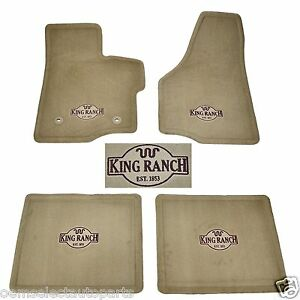 Oem New 2011 2016 Ford F Series Sd Tan King Ranch Cab Crew Floor Mats