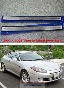 For 2003 2008 Hyundai Tiburon Coupe Tuscani Metal Side Door Sill Scuff Step
