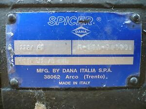 Spicer Dana Rear Complete Telehandler Axle Assembly New Holland And Others