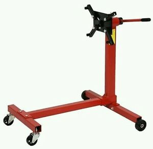 New Shop Engine Stand 1000lb Pro Hoist Automotive Lift Rotating 4 Leg Type Motor