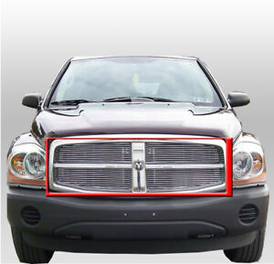 2004 2005 2006 Dodge Durango 3 7 4 7 5 7 Front Upper Billet Polished Grille 4pc