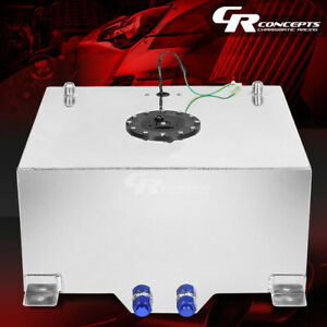 20 Gallon Lightweight Polished Aluminum Gas Fuel Cell Tank Level Sender Foam