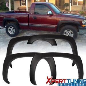 Fits 99 06 Chevy Silverado Oe Factory Style Fender Flare Smooth Black Pp 4pc