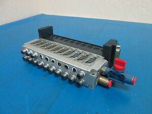 Smc Electronically Controlled Solenoid Manifold Valve Block 10 Port