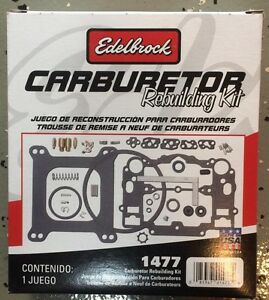 Edelbrock 1477 Carburetor Rebuild Kit Carb Kit Genuine Free Shipping