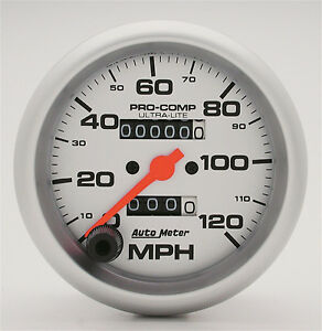 Auto Meter Ultra Lite In Dash Silver Mechanical Speedometer 3 3 8 In 120 Mph