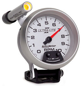 Auto Meter Ultra Lite Ii Tachometer 3 3 4 10000 Rpm In Dash Mini Shift Light