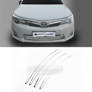 Chrome Front Lower Radiator Grille Garnish Molding For 2012 2014 Toyota Camry