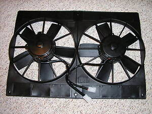 Dual 11 Electric Radiator Cooling Fan Extreme Twin Fans Shroud Hd Street Rod