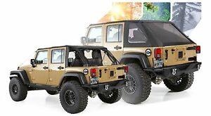 2007 2017 Jeep Wrangler Unlimited Frameless Bowless Soft Top Kit requires Hrdw