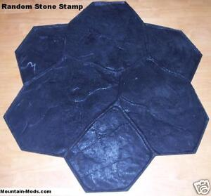 Random Stone rock Decorative Concrete Cement Imprint Texture Stamp Mat Floppy