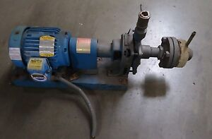 Worthington Pump D512 1 5 x1 x4 And Baldor 1hp M8015t Motor